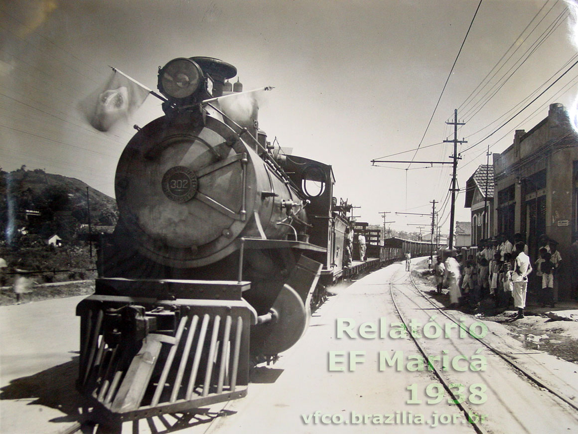Locomotiva nº 302 da Estrada de Ferro Maricá em 1938